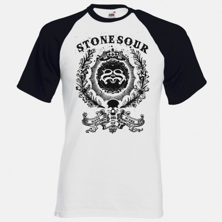 Men Stone Sour baseball T shirt
