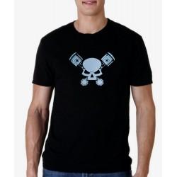 Men Silver pistons T shirt
