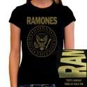 Camiseta mujer Ramones Dorada