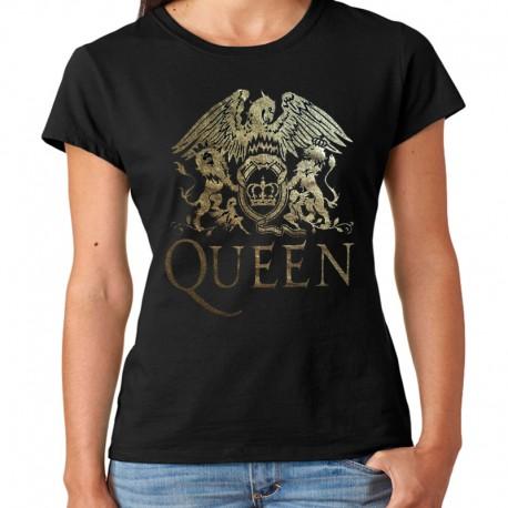 Camiseta mujer Queen dorada