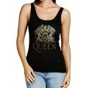 Camiseta tirantes Queen dorada