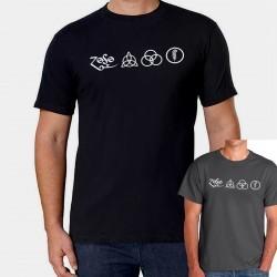 Men Led Zeppelin symbols T shirt