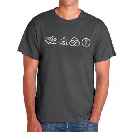 Camiseta hombre Led Zeppelin símbolos