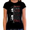 Women Game of thrones Arya list T shirt