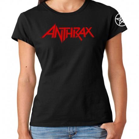 Women Anthrax band T shirt