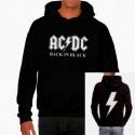 Men AC/DC Back in Black hoodie sweatshirt
