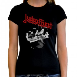 Women Judas Priest British steel T shirt