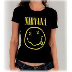 Camiseta mujer Nirvana clasica