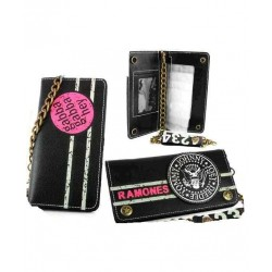 Ramones leather wallet with key chain