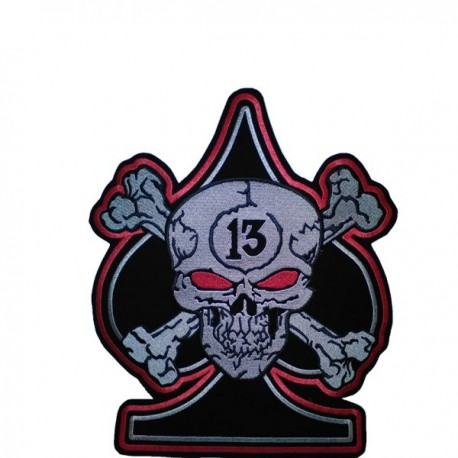 Embroided back patch skull nº13
