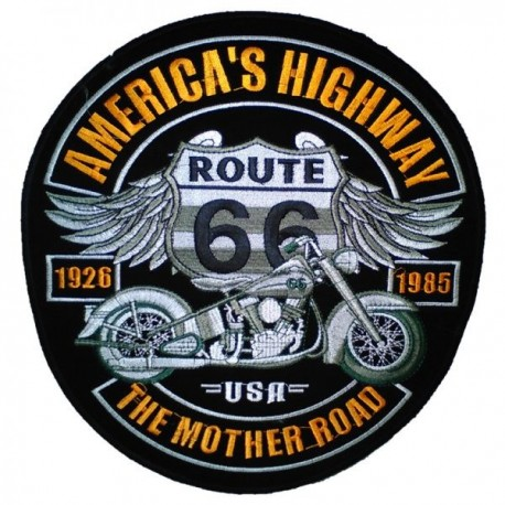 Embroided back patch mother road