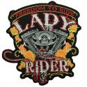 Embroided back patch Lady rider