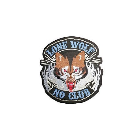 Embroided back patch lone wolf