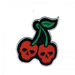 Cherry skulls patch