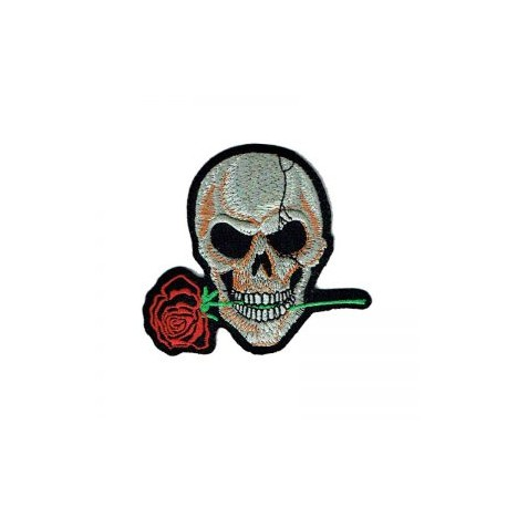Patch skull with rose