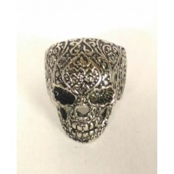 Skull ring impressed steel