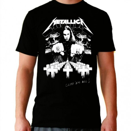 Camiseta hombre Metallica Cliff'em all