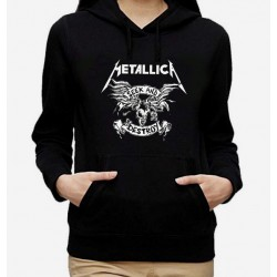 Women Metallica Seek and destroy hoodie sweatshirt