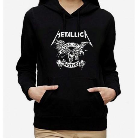 Women Metallica Seek and destroy hoodie sweatshirt