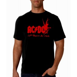Men AC/DC Let there be rock T shirt