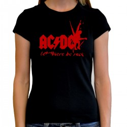 Women AC/DC let there be rock T shirt