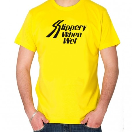 Men Bon Jovi Slippery when wet T shirt