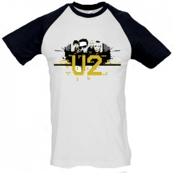 Men U2 baseball T shirt