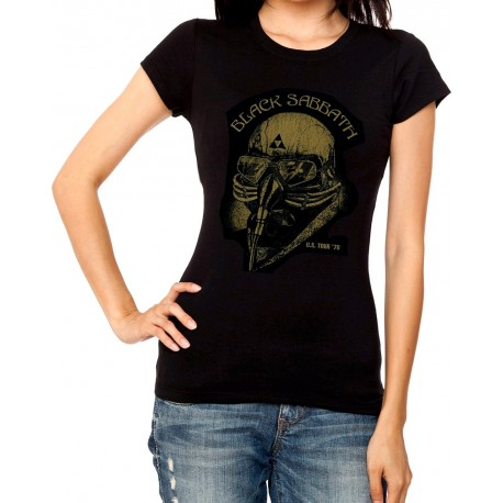 Women Iron man Black Sabbath T shirt