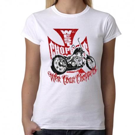 Women West Coast Choppers bike T shirt