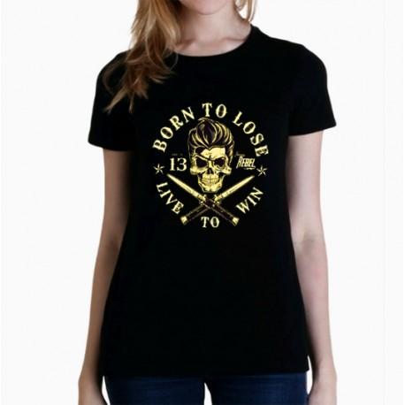 Women Born to loose T shirt