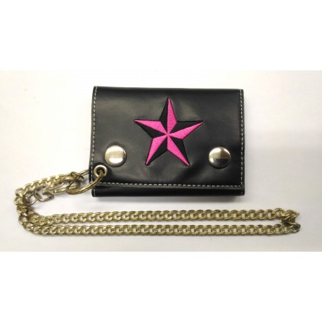 Star wallet with key chain