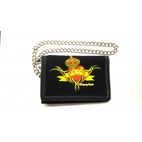 King of my heart wallet with key chain