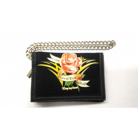 Vintage rose wallet with key chain