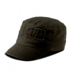 military washed black cap